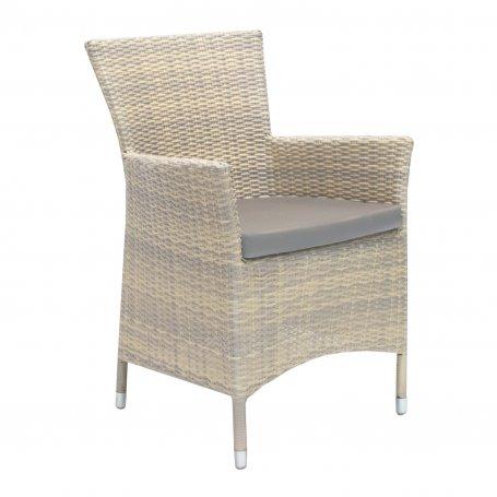 Pehmustettu polyrottinkinen tuoli Whistler beige ja cappucino