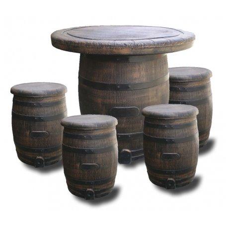 Tammitynnyripöytäryhmä 1+4 tuolia